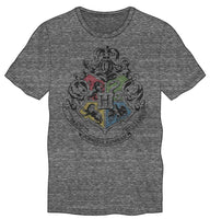 Harry Potter Hogwarts Crest & Motto Draco Dormiens Nunquan Titillandus Men's Dark Gray T-Shirt