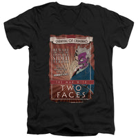 Batman - Two Faces Short Sleeve Adult V Neck
