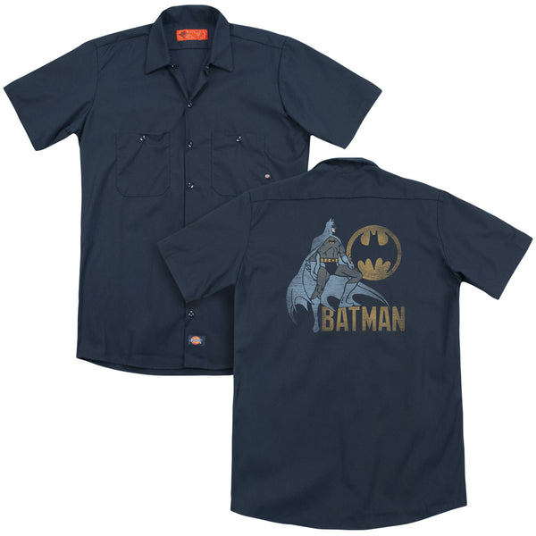 Batman - Knight Watch (Back Print) Adult Work Shirt