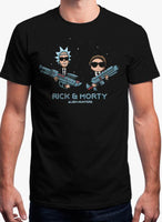 ALIEN HUNTERS - RICK AND MORTY Black T-shirt