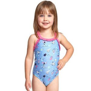 Space Circus Ruffle X Back One Piece