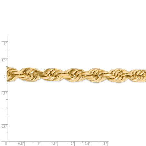 14K 10mm  D/C Rope with Fancy Lobster Clasp Chain-WBC-080-24