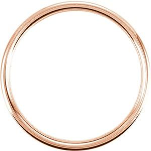 14K Rose 7.5 mm Concave Band with Hammer Finish Size 4-51192:100:P-ST-WBC