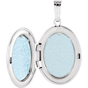 Sterling Silver 28.9x16 mm Oval Locket -84923:101:P-ST-WBC