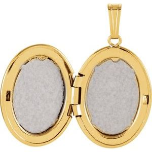14K Yellow Oval Locket  -84927:101:P-ST-WBC