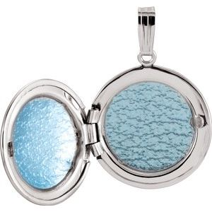 Sterling Silver Round Locket  -84922:101:P-ST-WBC