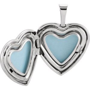 Sterling Silver 15.75 mm Tri-Color Cross & Roses Locket-R41637:60001:P-ST-WBC