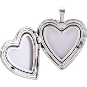 Sterling Silver 20.5x19 mm Heart Cross Locket-R41631:60001:P-ST-WBC