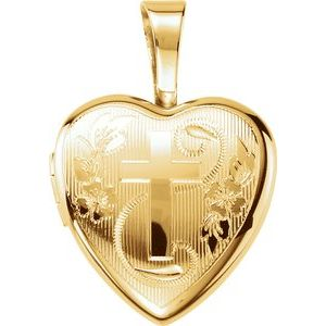 Gold Plated & Sterling Silver Cross Heart Locket-190050:202:P-ST-WBC