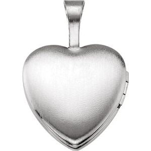 "Sterling Silver ""Mi Bautizo"" Heart Locket-190053:501:P-ST-WBC"
