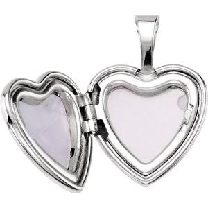 Sterling Silver 12.5x12 mm Baptism Heart Locket-190049:101:P-ST-WBC