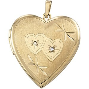 14K Yellow Heart Locket-21829:240987:P-ST-WBC