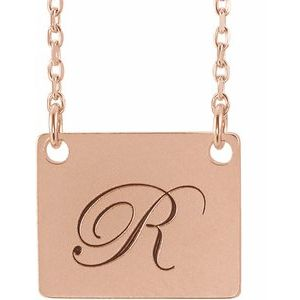 "14K Rose Geometric 18"" Necklace -86559:107:P-ST-WBC"