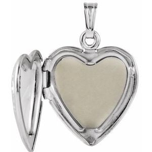 Sterling Silver 27x18.7 mm Mom Heart Locket with Rose-21845:241004:P-ST-WBC