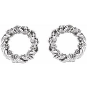 14K White 9.4 mm Circle Rope Earrings-86821:600:P-ST-WBC