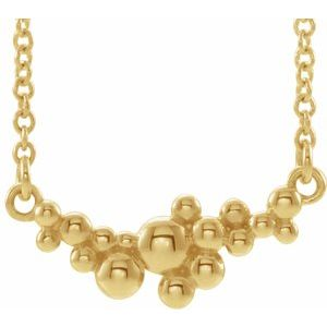 "14K Yellow Scattered Bead 18"" Necklace  -86824:606:P-ST-WBC"