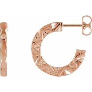 14K Rose Geometric Hoop Earrings  -86849:602:P-ST-WBC