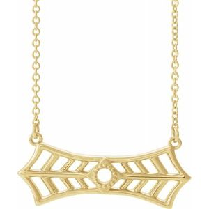 "14K Yellow Vintage-Inspired Bar 18"" Necklace  -86877:606:P-ST-WBC"