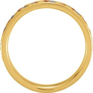 14K Tri-Color 5 mm Woven Band Size 4-50133:216850:P-ST-WBC