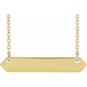 "14K Yellow 33x6 mm Geometric 16-18"" Necklace-86557:601:P-ST-WBC"