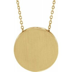 "14K Yellow 17 mm Scroll Disc 16-18"" Necklace-86634:606:P-ST-WBC"