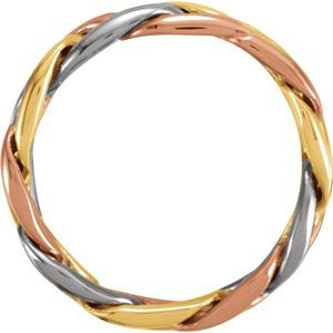 14K Tri-Color 4.75 mm Woven Band Size 4.5-50130:216774:P-ST-WBC