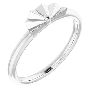 Sterling Silver Starburst Stackable Ring -51845:105:P-ST-WBC