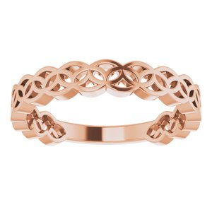 14K Rose Geometric Stackable Ring-51849:103:P-ST-WBC