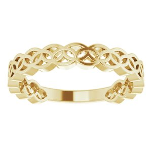 14K Yellow Geometric Stackable Ring-51849:102:P-ST-WBC
