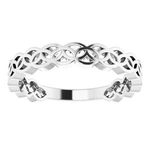 14K White Geometric Stackable Ring-51849:101:P-ST-WBC