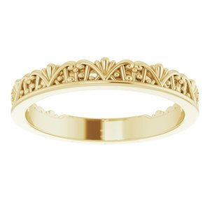 14K Yellow Stackable Crown Ring -51848:102:P-ST-WBC