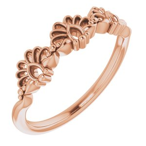 14K Rose Vintage-Inspired Stackable Ring  -51859:103:P-ST-WBC