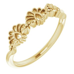 14K Yellow Vintage-Inspired Stackable Ring  -51859:102:P-ST-WBC