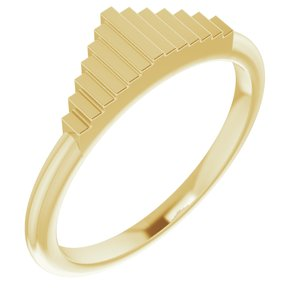 14K Yellow Geometric Stackable Ring   -51855:102:P-ST-WBC