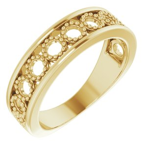14K Yellow Geometric Stackable Ring  -51879:102:P-ST-WBC