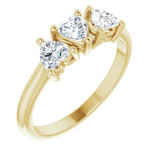 14K Yellow 1 CTW Diamond Three-Stone Anniversary Band  -123896:605:P-ST-WBC
