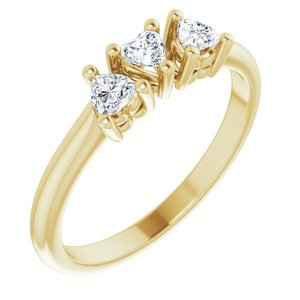 14K Yellow 3/8 CTW Diamond Three-Stone Anniversary Band  -123896:601:P-ST-WBC
