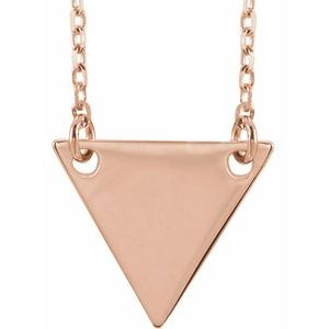 "14K Rose Geometric 18"" Necklace-86560:107:P-ST-WBC"