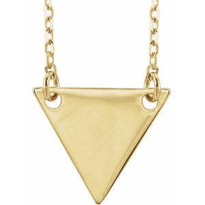 "18K Yellow Gold Plated Geometric 18"" Necklace-86560:109:P-ST-WBC"