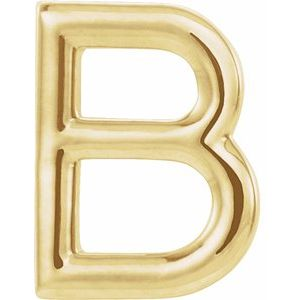 14K Yellow Single Initial B Earring-86800:108:P-ST-WBC