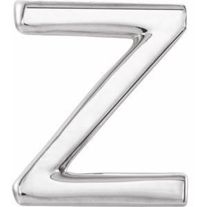Sterling Silver Single Initial Z Earring-86800:255:P-ST-WBC