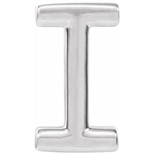 Sterling Silver Single Initial I Earring-86800:153:P-ST-WBC