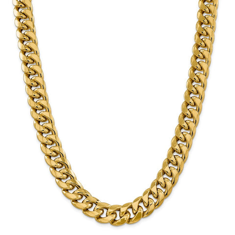14k 15mm Semi-Solid Miami Cuban Chain-WBC-BC165-30