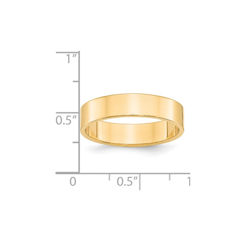 14KY 5mm LTW Flat Band Size 4-FLL050-4-WBC
