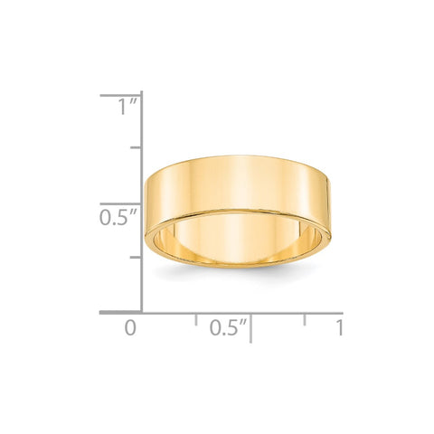 14KY 7mm LTW Flat Band Size 4-FLL070-4-WBC