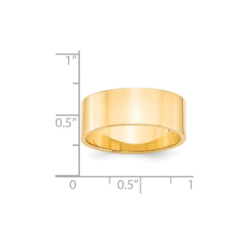 14KY 8mm LTW Flat Band Size 4-FLL080-4-WBC