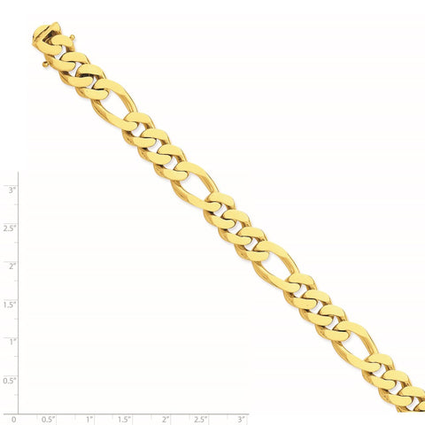 14k 11.8mm Polished Fancy Link Chain-WBC-LK465-22