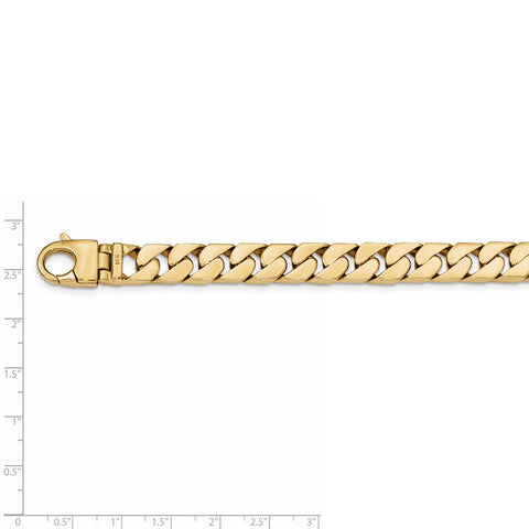 14k 10.20mm Hand-polished Long Link Half Round Curb Chain-WBC-LK590-22