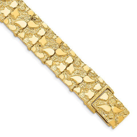 14k 15mm Nugget Bracelet-WBC-NB15-7