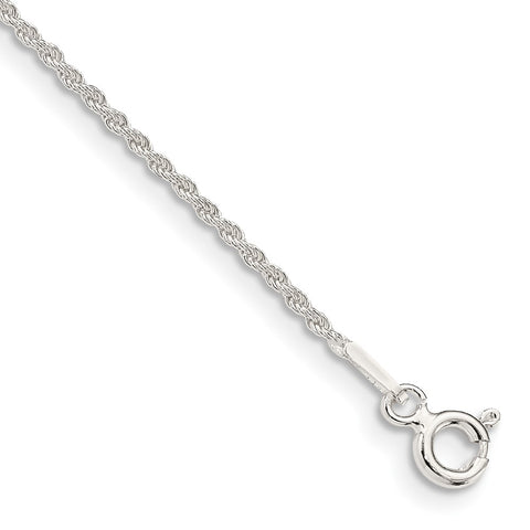 Sterling Silver 1.3mm Solid Rope Chain-WBC-QDR025-8